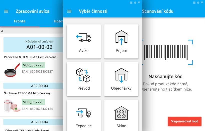 Řízení skladu e‑shopů Tescoma, Hamé či Vileda